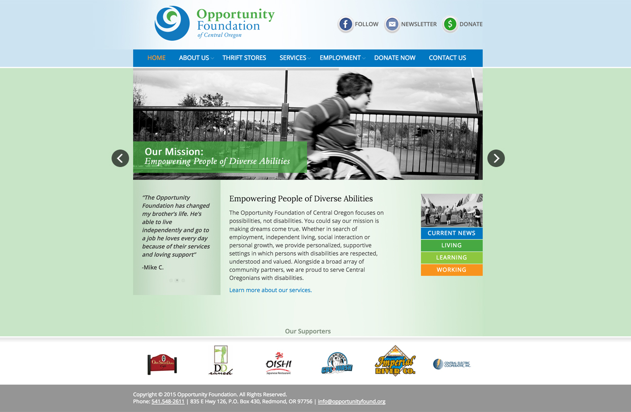 Non Profit WordPress Website Developer Central Oregon