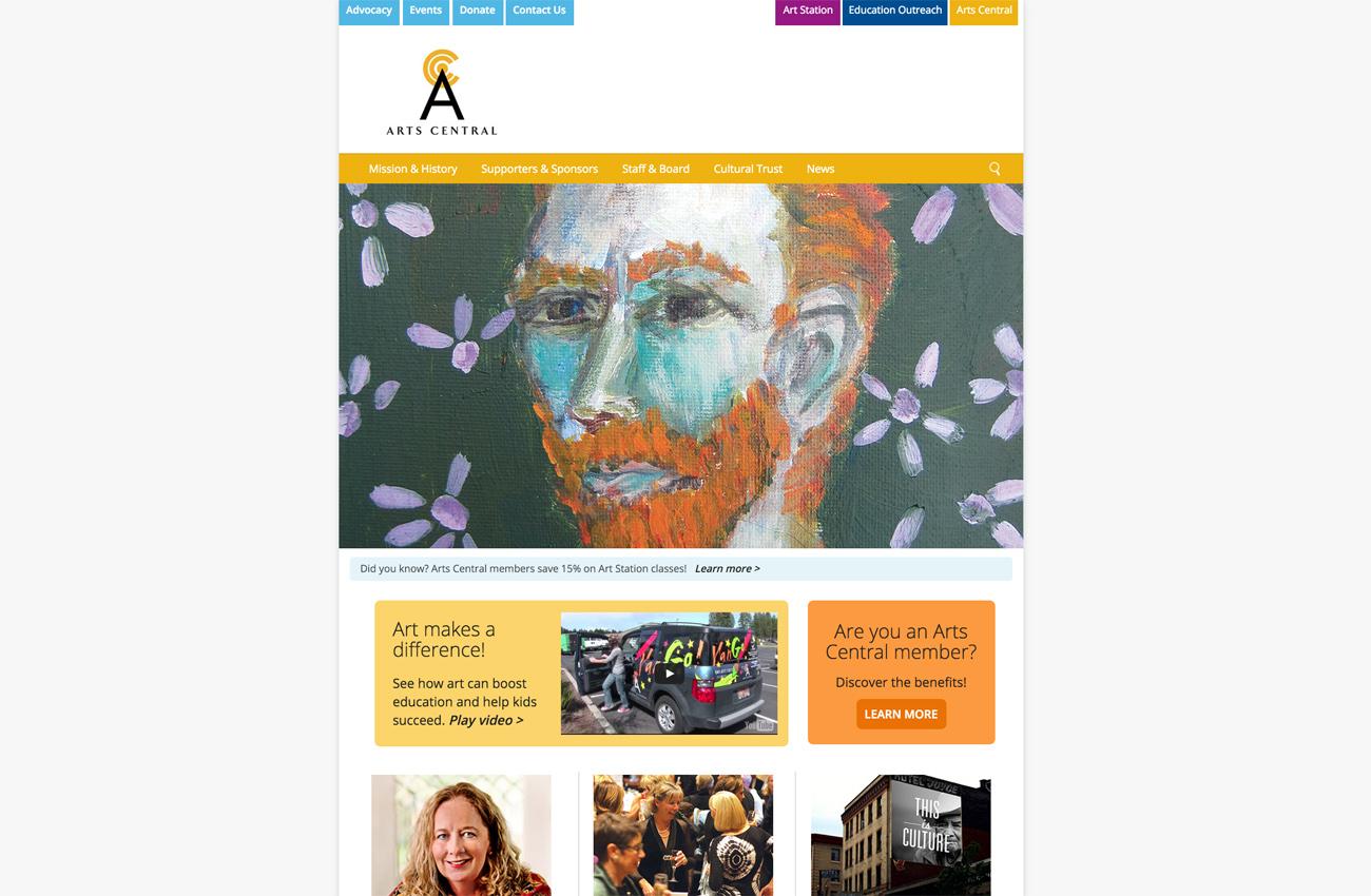 Arts Center Bend Oregon Non Profit Responsive WordPress Website Developers