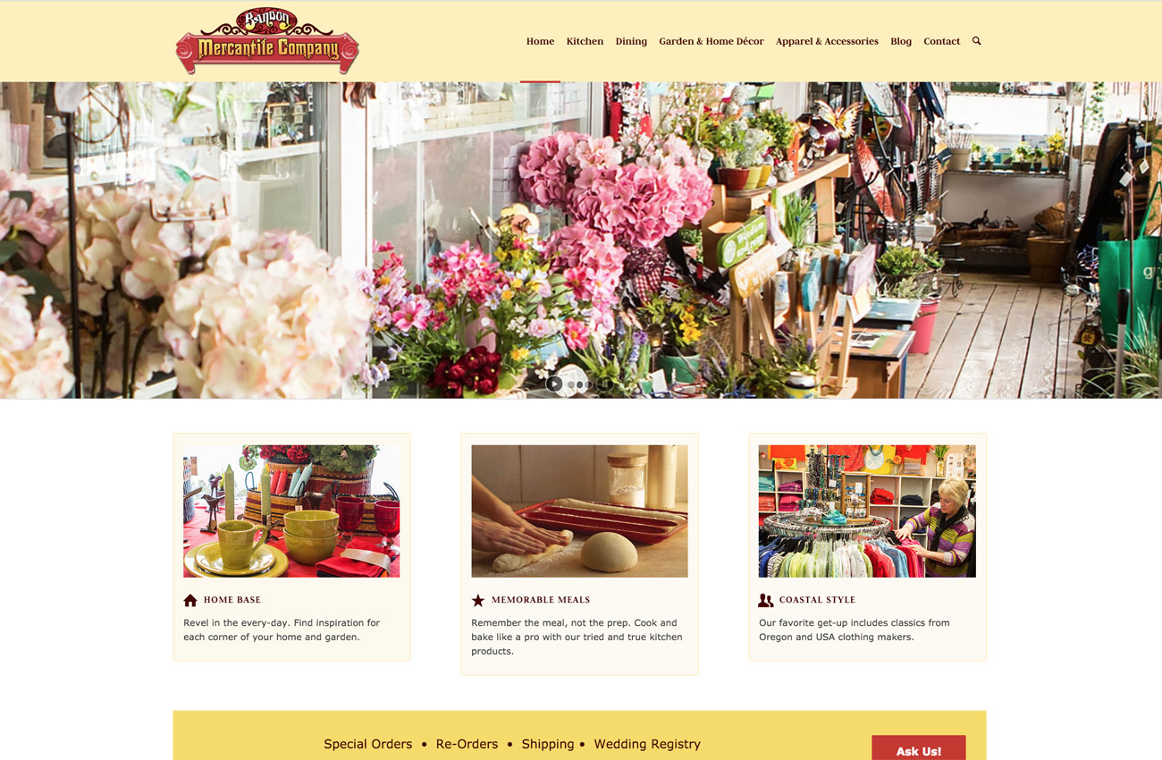 Oregon Mercantile Wordpress Devlopment