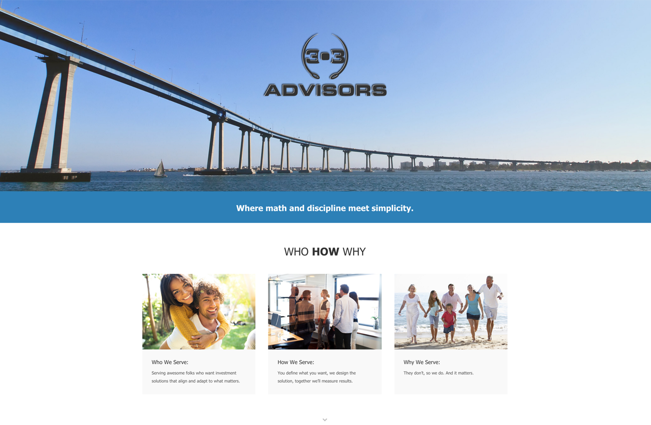 303 Advisors Encinitas California WordPress Website Developer