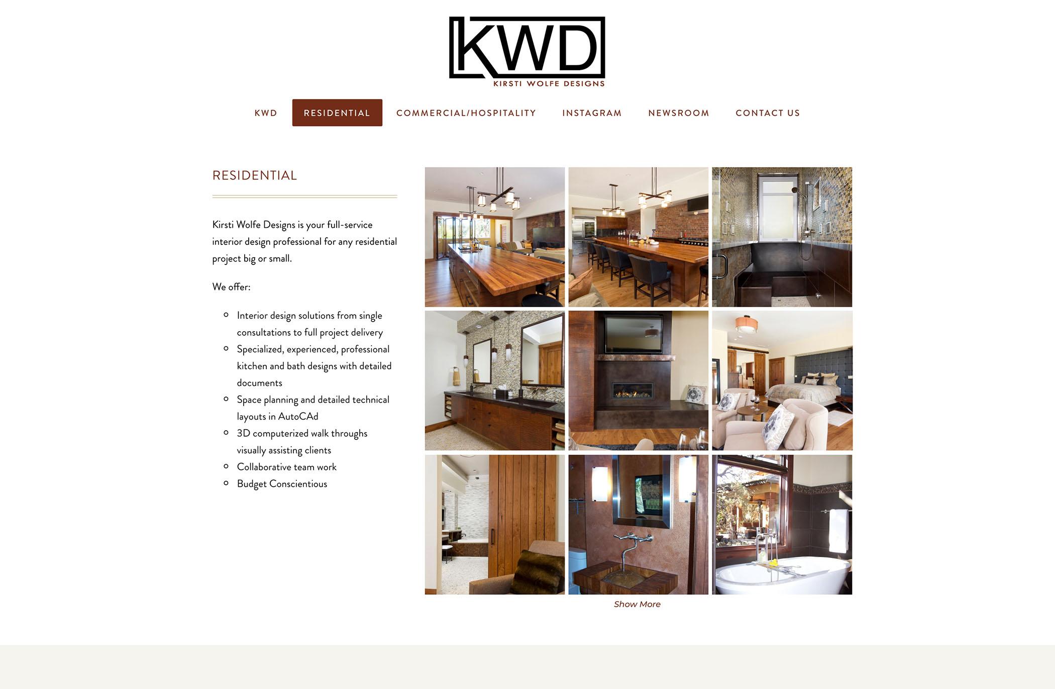 interior designer website designer bend oregon