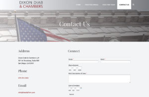 Law Firm Web Developer San Diego