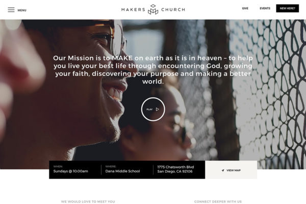 Church Non Profit Website Developer San Diego