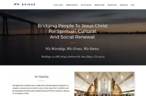 Bridge Church WordPress Website Design San Diego