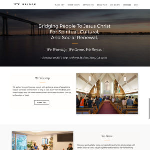 Bridge Church WordPress Website Design