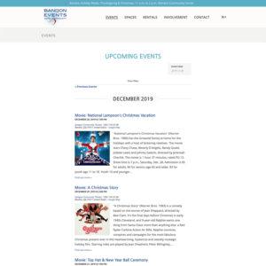 events e-commerce wordpress website design