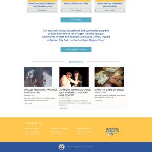events wordpress website design