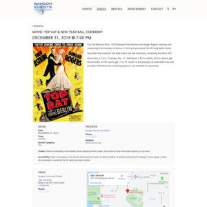 event tickets sales wordpress bend oregon