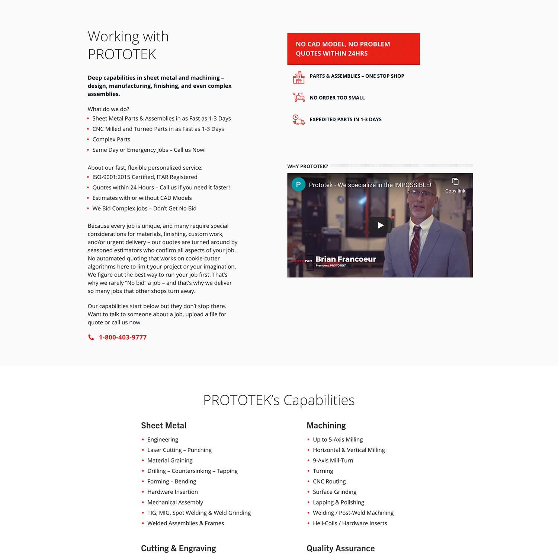 wordpress sheet metal website developer san diego