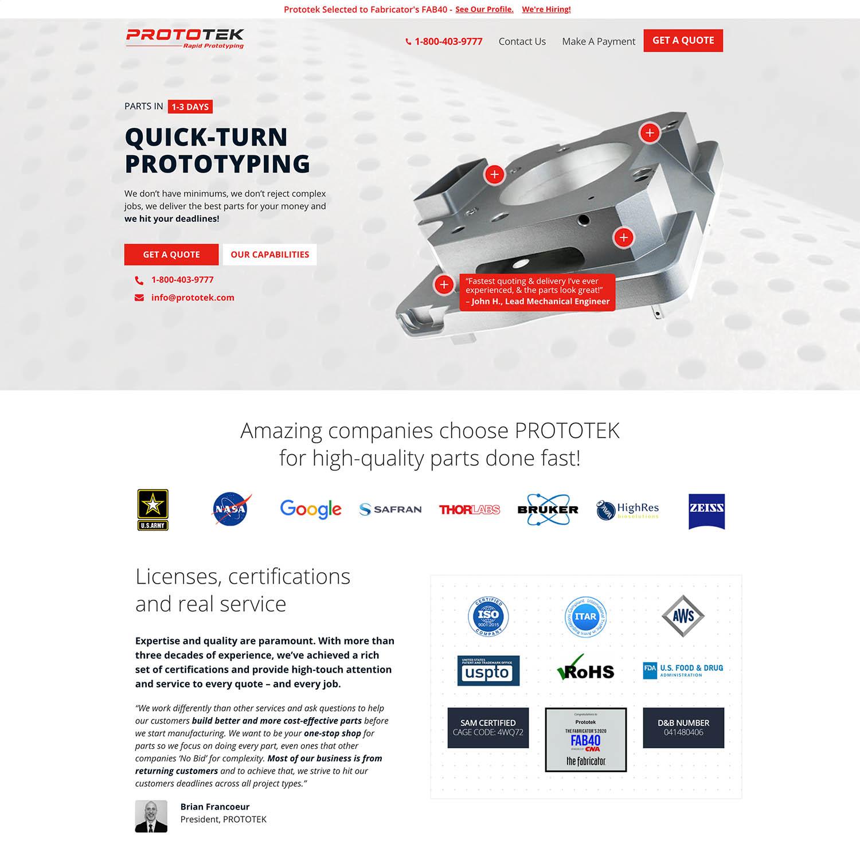 sheet metal fabrication website developer san diego