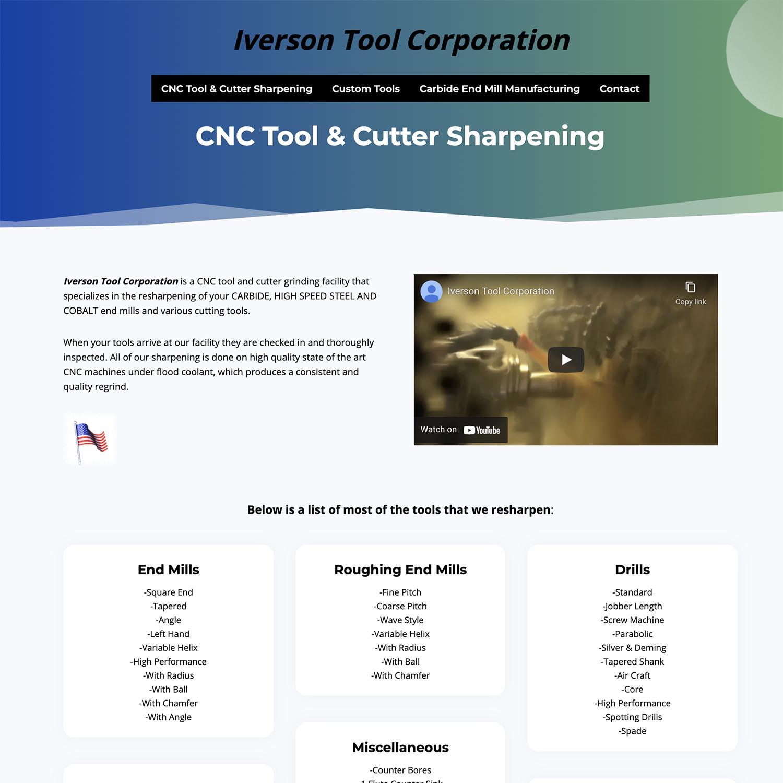 Tool Cutting WordPress Website Developer